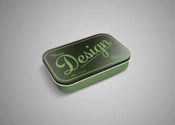Small Tin Box Mockup PSD