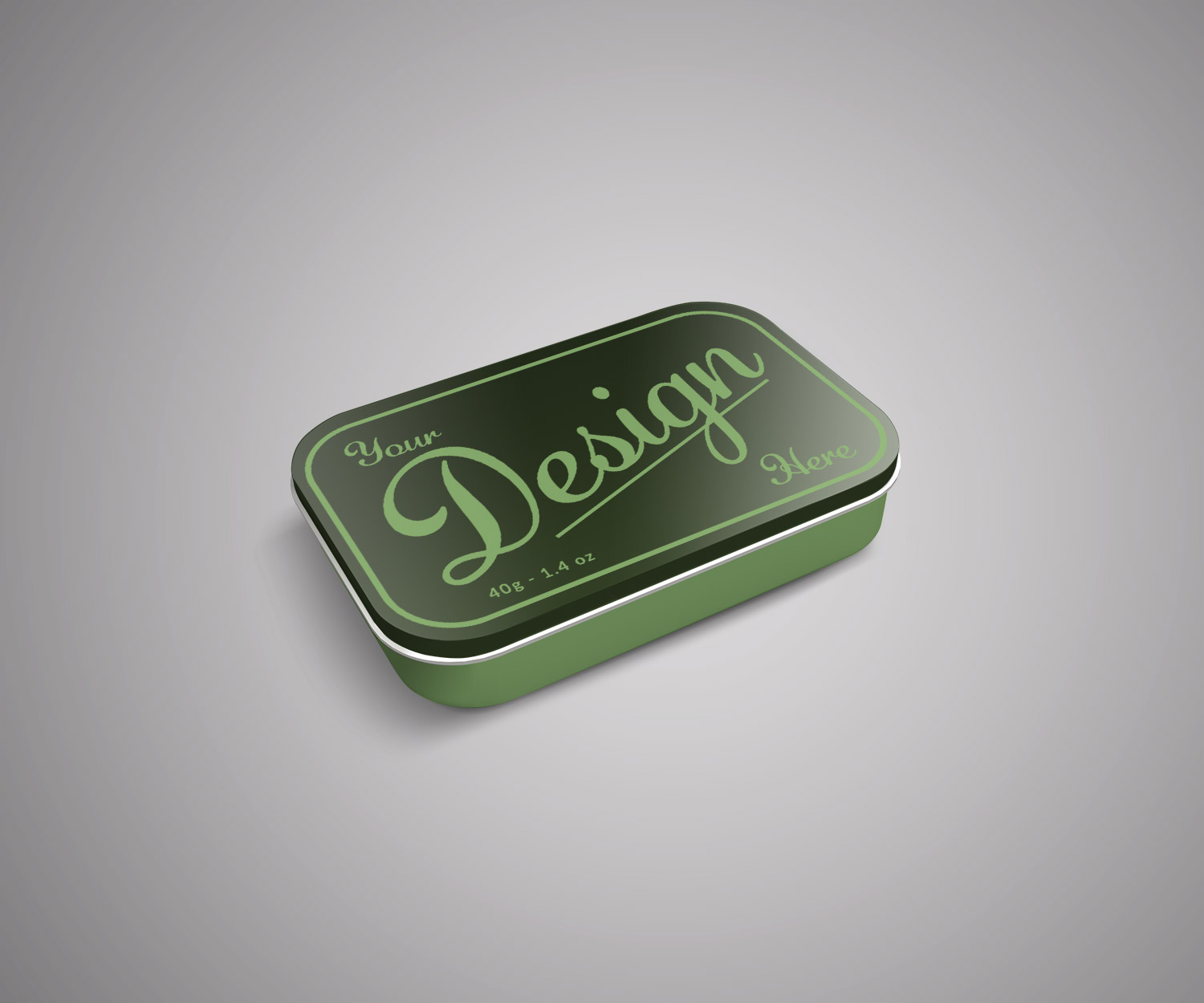 Small Tin Box Mockup PSD
