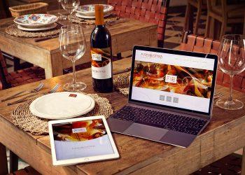 Wine Bottle iPad Air 2 Macbook Mockup