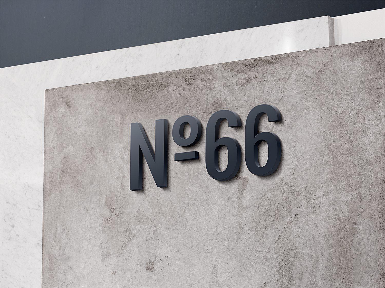 3D Wall Logo Mockup Vol 3