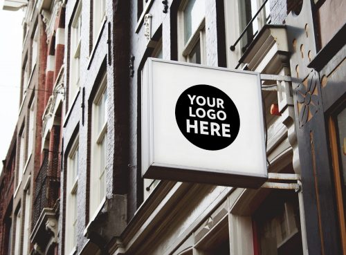 8 Free Shop Restaurant Cafe Office Signs Mockup