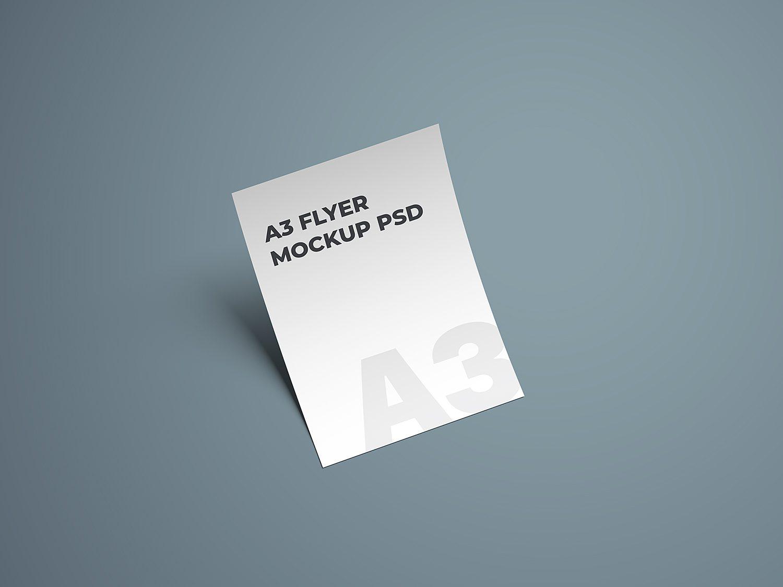 A3 Flyer Mockup PSD
