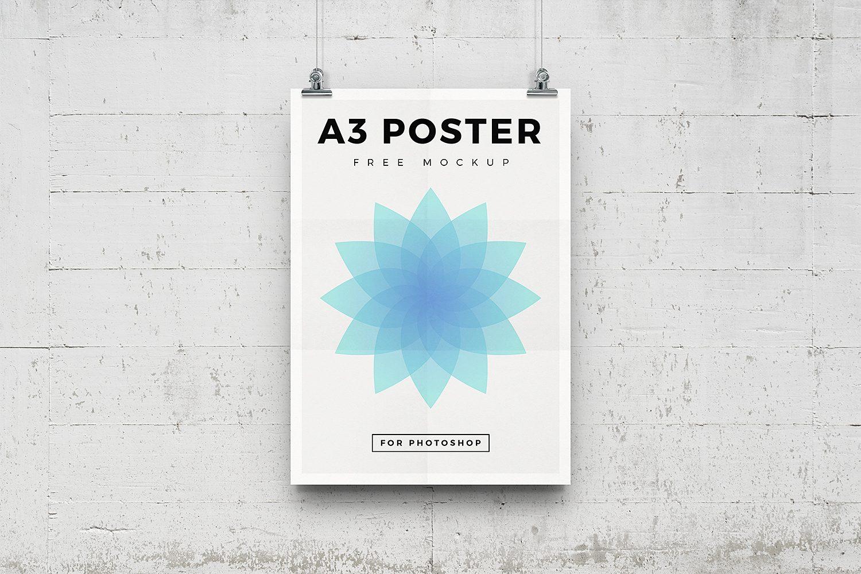 A3 Poster Mockup PSD
