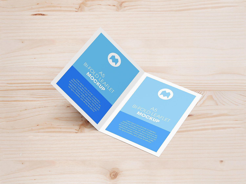 A5 Bi-Fold Leaflet Mockup