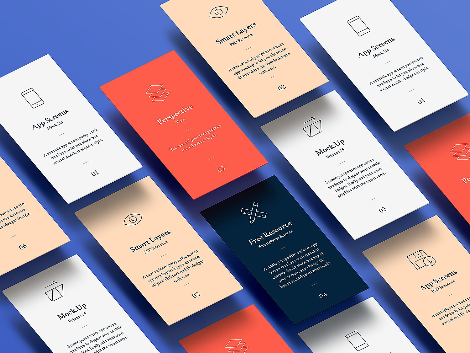 App Screens Mockup PSD