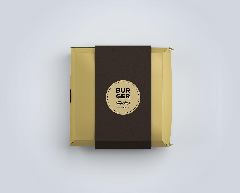 Burger Box Package Mockup Best Free Mockups