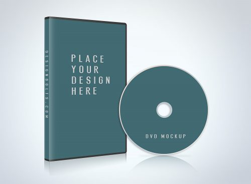 CD/DVD Case Disc Cover Mockup PSD