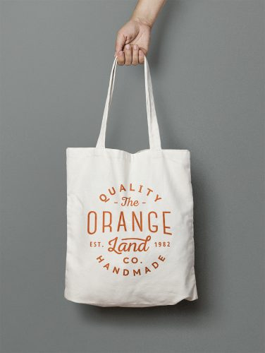 Canvas Tote Bag PSD Mockup