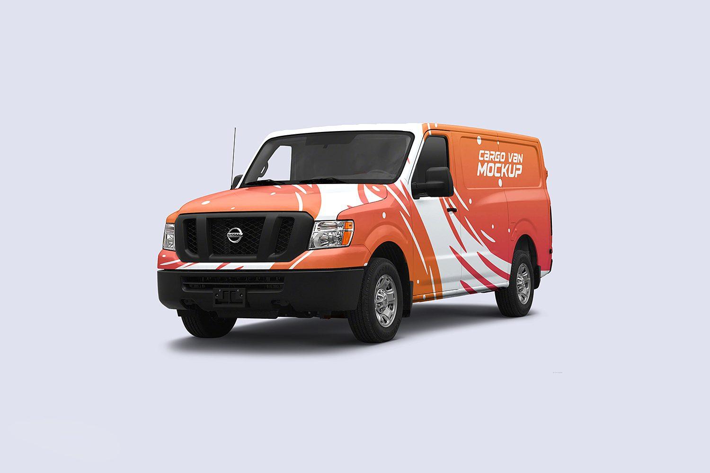 vehicle mockup psd cargo van mockup psd - best free mockups