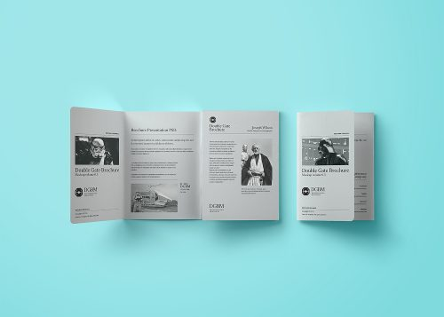 Double Gate Fold Brochure Mockup
