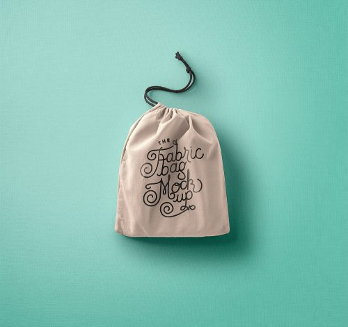 Drawstring Bag Mockup PSD