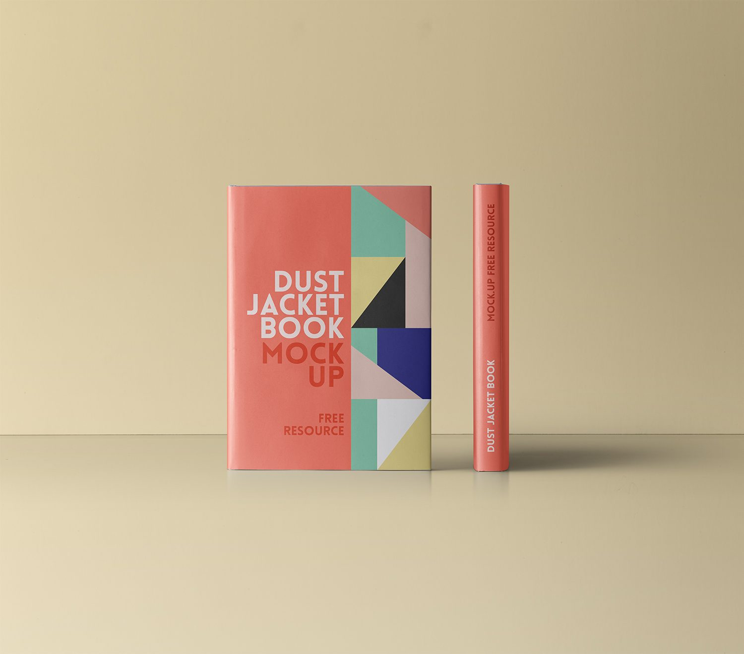 Dust Jacket Book Mockup PSD