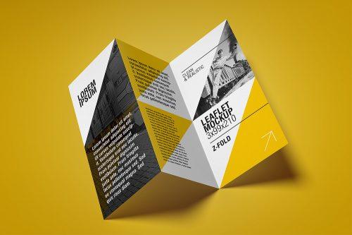 Free Flyer Mockup / Z-Fold
