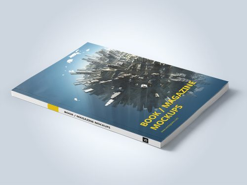 Free Magazine or Book Mockup