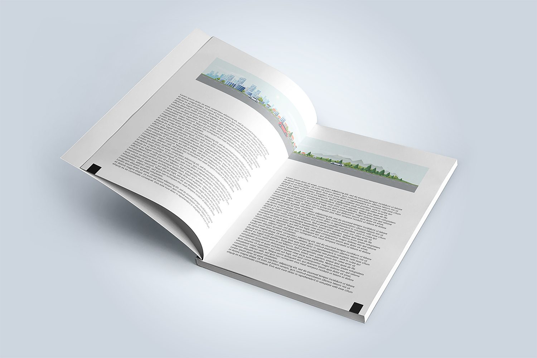Free Magazine or Book Mockup