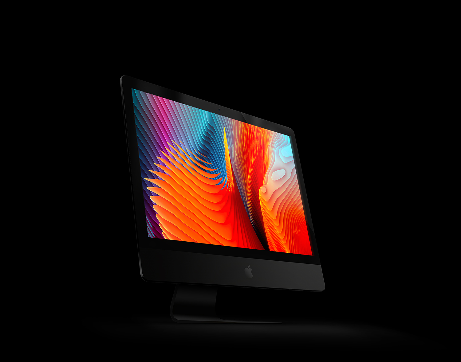 Free Perspective View iMac Pro PSD Mockup