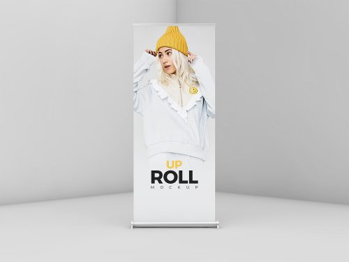 Free Roll-Up Banner Mockup