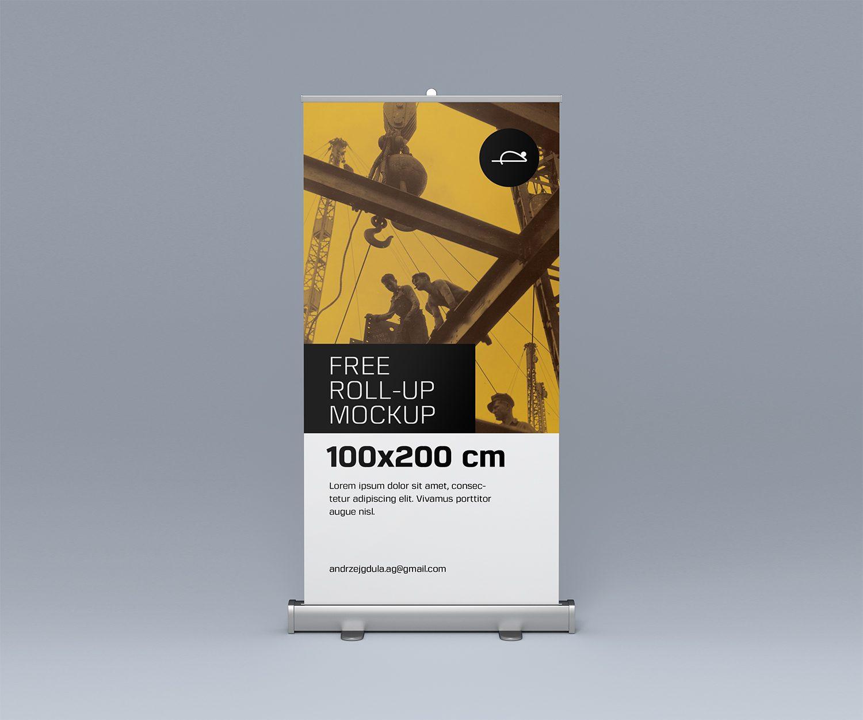Free Roll Mockup PSD