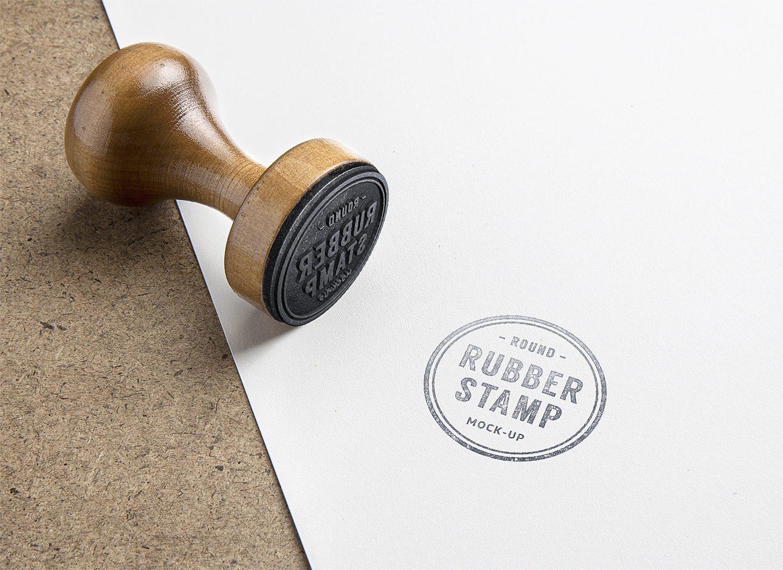 Free Rubber Stamp Logo Mockup