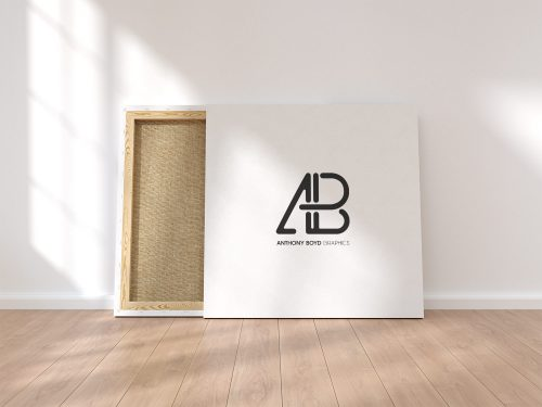 Free Square Canvas Mockup
