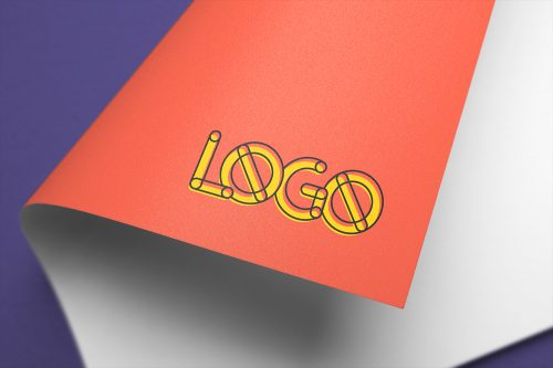 Full-Color Logo Mockup