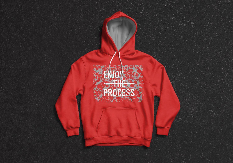 Full Sleeves Hoodie T-Shirt Mockup