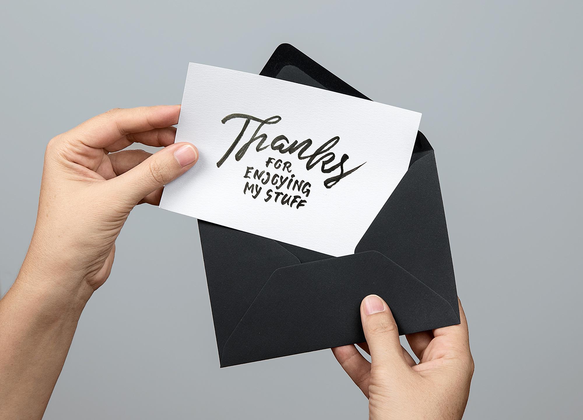 Greeting Card with Envelope Mockup