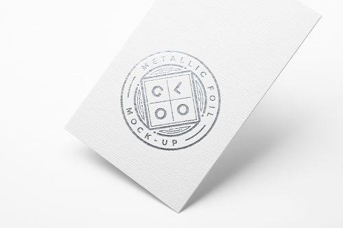 Metallic Foil Logo PSD Mockup
