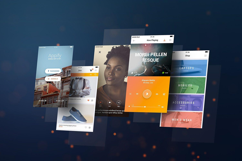 Mobile App Mockup PSD