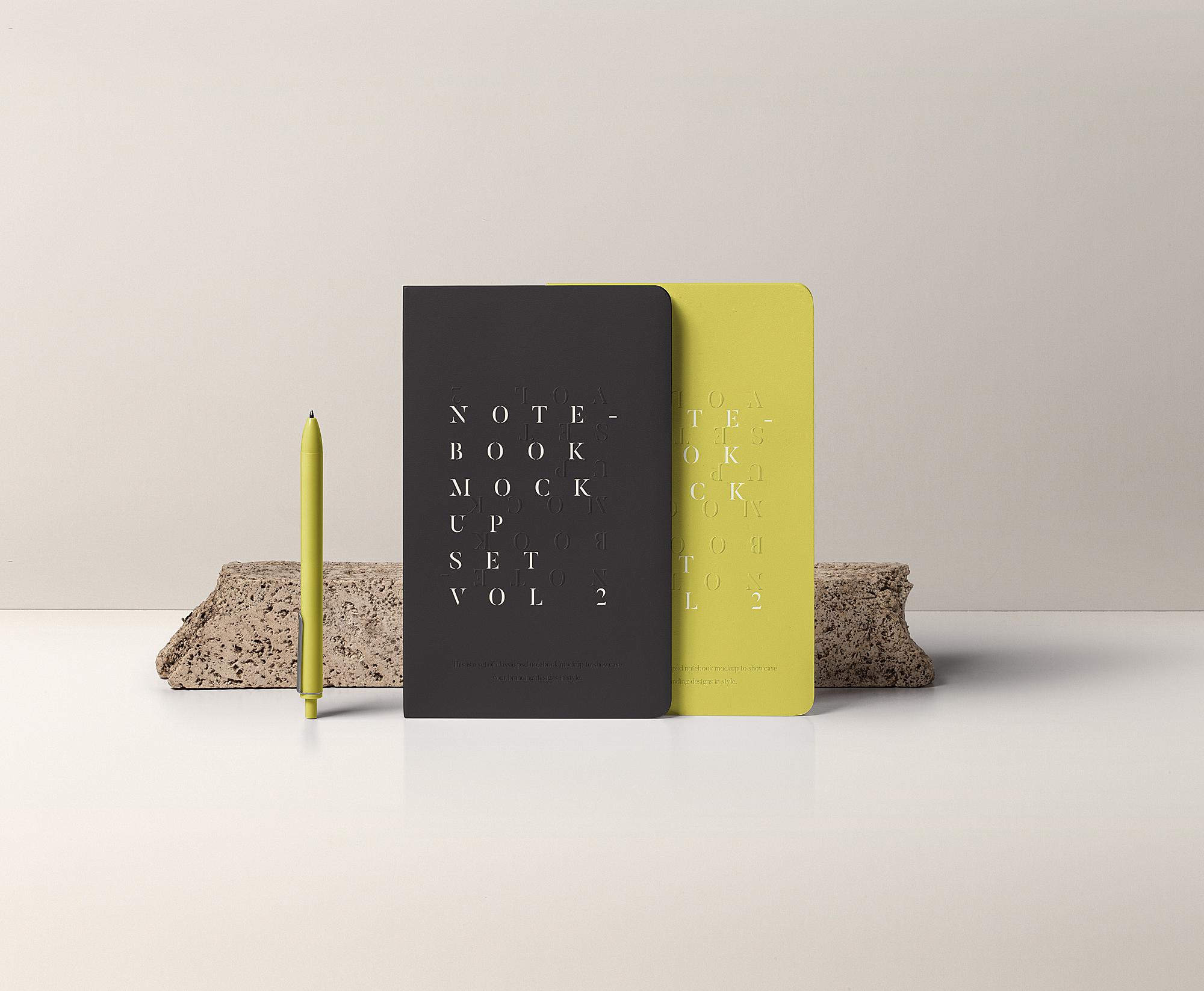 PSD Notebook Mockup Set Vol. 2