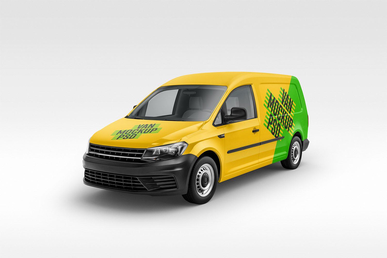 vehicle mockup psd panel van mockup ( angles) - best free mockups