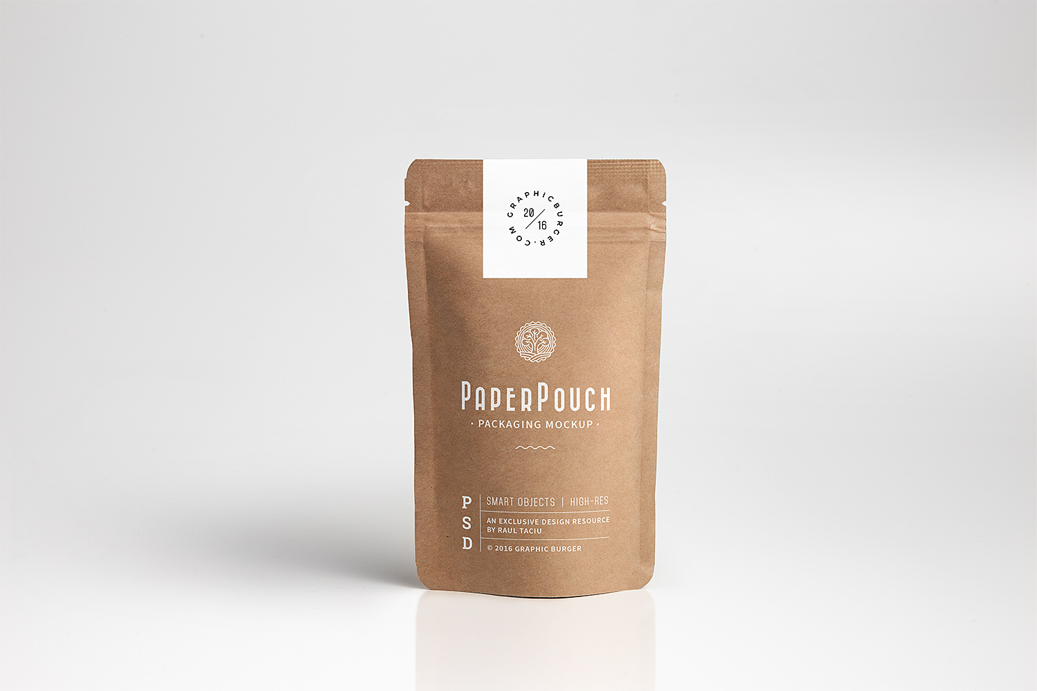 Paper Pouch Packaging Mockup