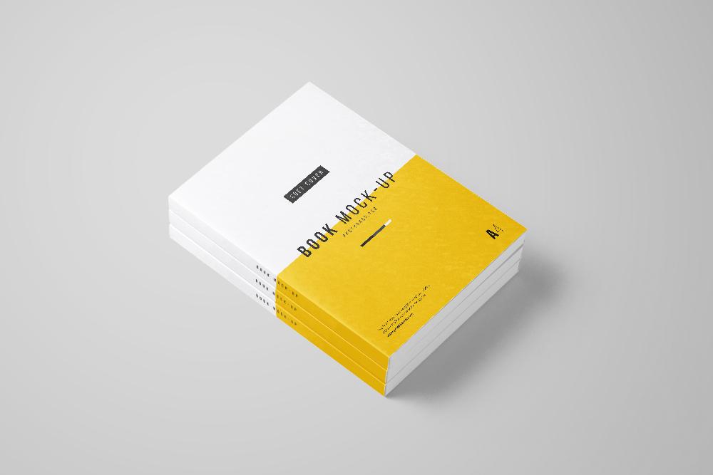 Photoshop A4 Book Mockup