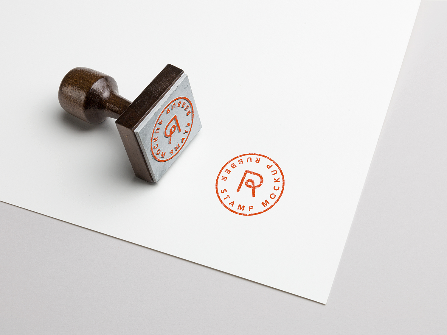 Rubber Stamp PSD Mockup Vol. 3