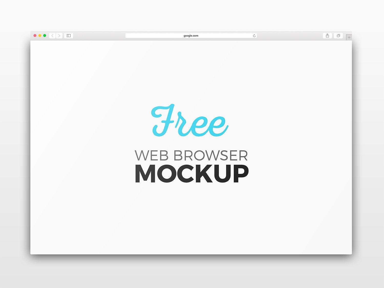 Safari Web Browser Photoshop Mockup Set