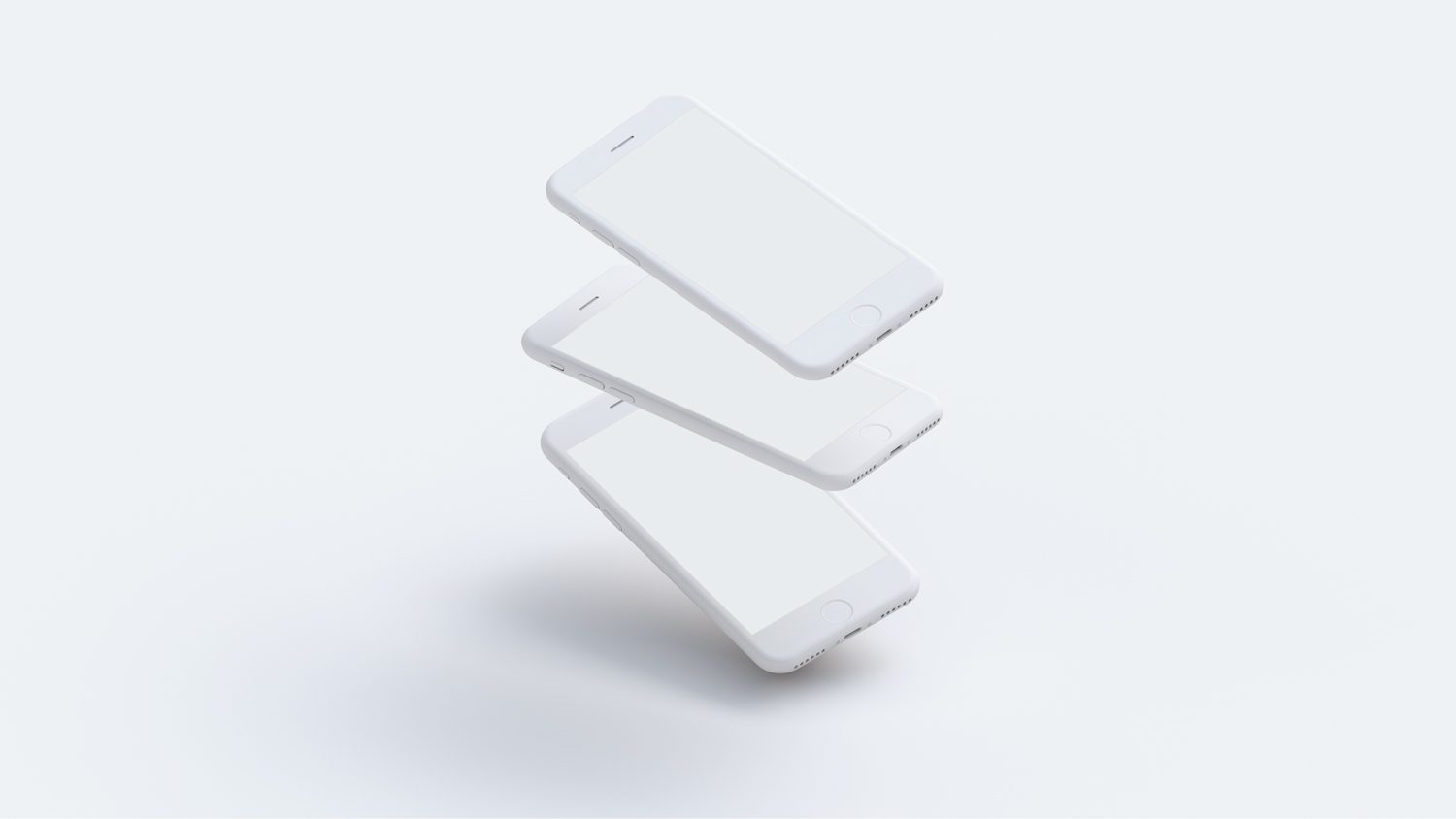 Set of White Clay iPhone Mockups