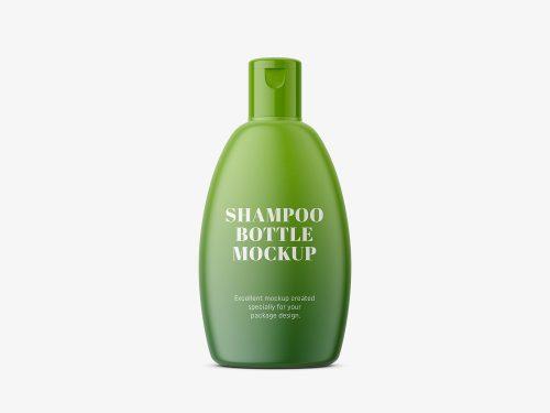 Shampoo Bottle Packaging PSD Mockup