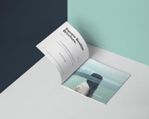 Square Brochure Mockup