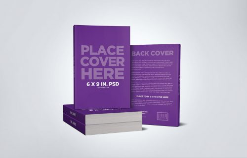 Stacked Book Mockup with Back Cover