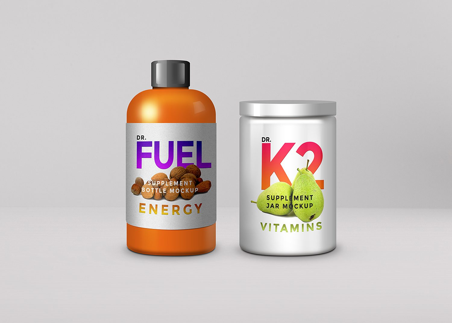 Supplement Product Packaging Mockup PSD