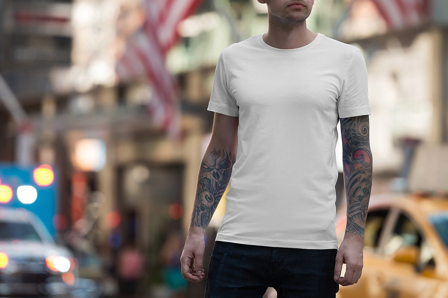Male & Female T-Shirt Mockup