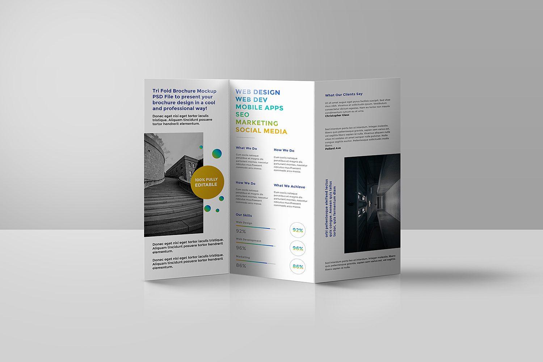 Tri Fold Brochure Mockup Psd Best Free Mockups