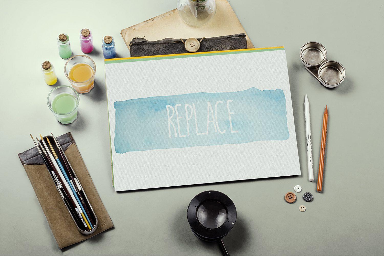 Watercolor Paint Mockup