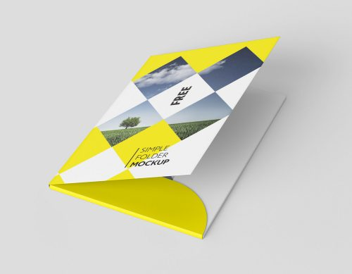 A4 Document Folder Mock-Up