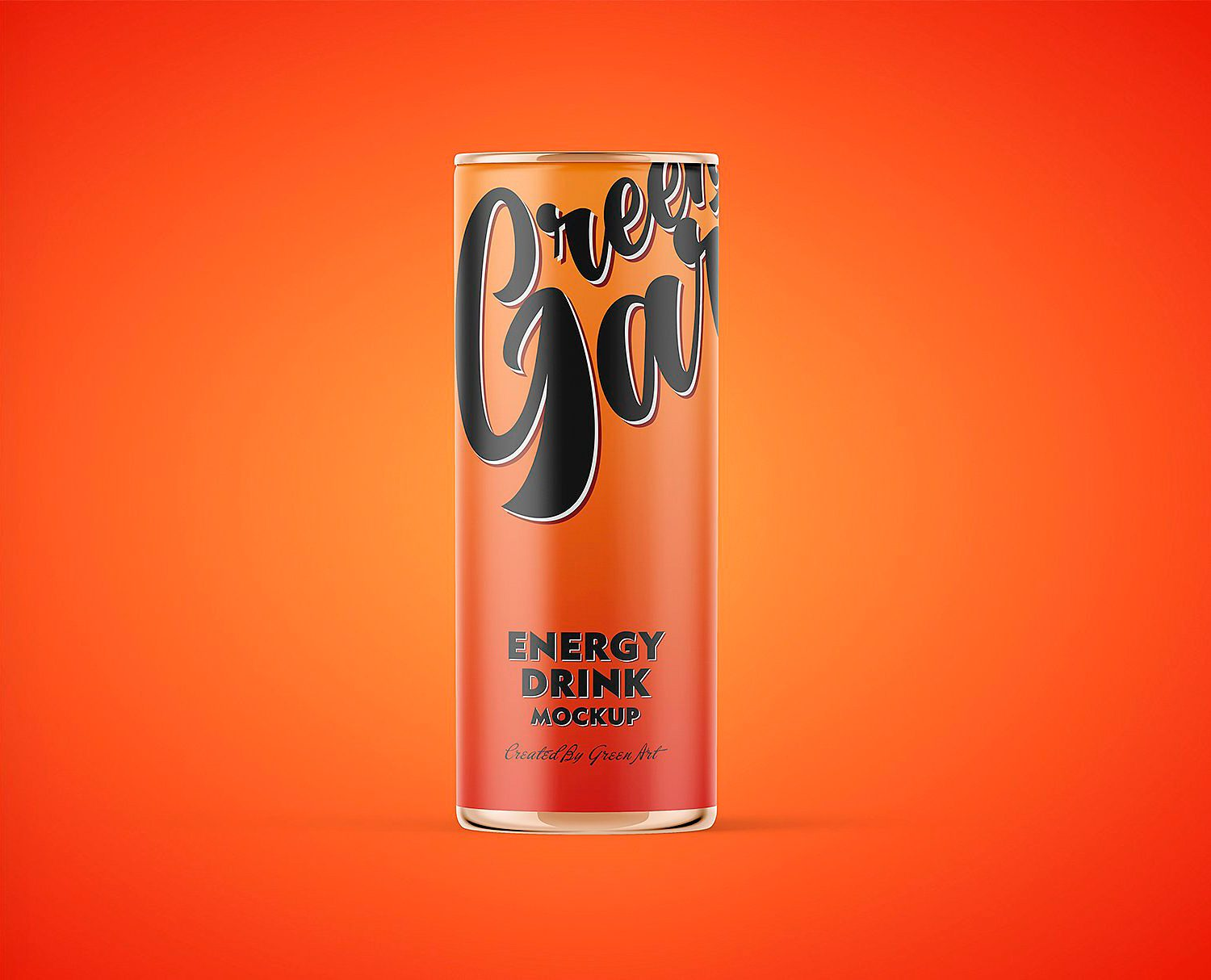 Energy Drink Tin Can Mockup PSD
