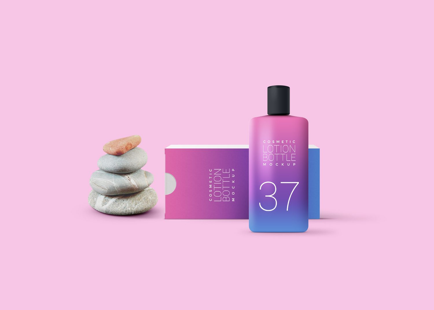 Free Cosmetic Lotion Packaging Mockup