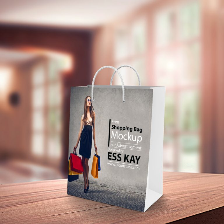 Free Shopping Bag PSD Mockup