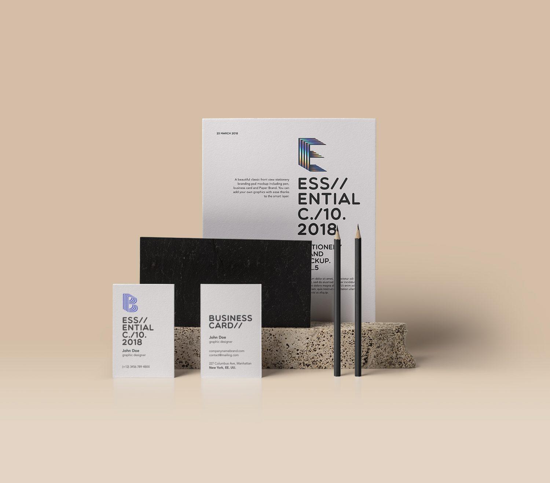 Free Standing Visual Branding Mockup PSD