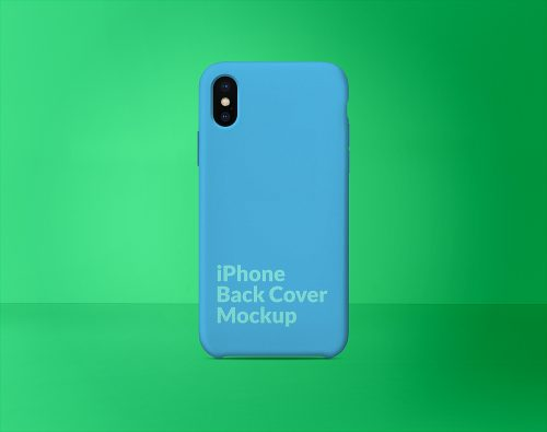 iPhone X Silicone Case Back Cover Mockup