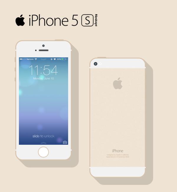 iPhone 5s Flat Mockup